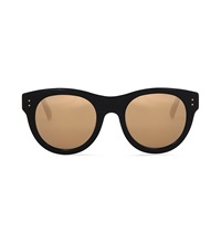 Linda Farrow Gold Tinted Sunglasses Clear And Gold