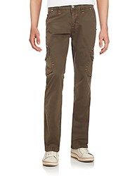 Rock Revival Cotton Twill Cargo Pants Brown