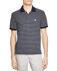 Brooks Brothers Double Stripe Slim Fit Polo Shirt Navy
