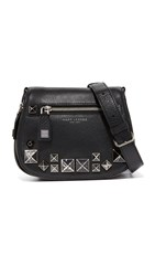 Marc Jacobs Chipped Stud Recruit Small Saddle Bag Black