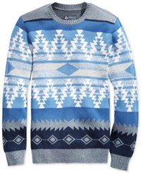 American Rag Men's Zig Zag Geo Sweater Only At Macy's Ar Pewter Hthr