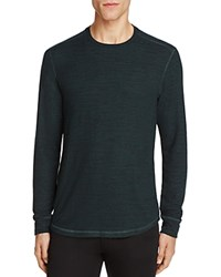 Velvet Bronson Heathered Long Sleeve Tee Forest Green