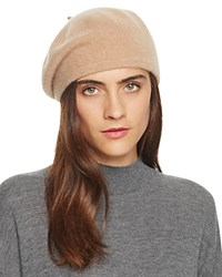 Bloomingdale's C By Cashmere Angelina Beret Camel