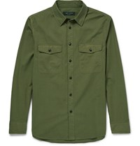Rag And Bone Jack Slim Fit Cotton Twill Shirt Army Green