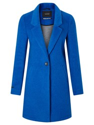 Maison Scotch Bonded Wool Coat Electric Blue