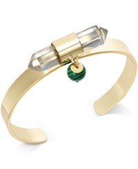 Bar Iii Gold Tone Crystal And Stone Cuff Bangle Bracelet Only At Macy's