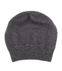 Dolce And Gabbana Knitted Marl Wool Hat Unisex Grey