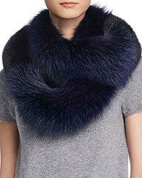 Surell Fox Fur Stole Scarf 100 Bloomingdale's Exclusive Blackberry Black
