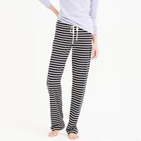 J.Crew Petite Dreamy Cotton Pant In Stripe
