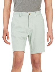 Black Brown 9 Inch Cotton Twill Shorts Washed Turquoise