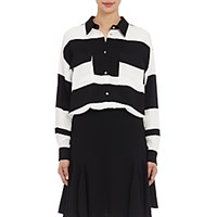 Lanvin Women's Striped Utility Blouse Black White No Color Black White No Color