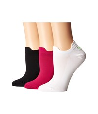 Lauren Ralph Lauren Double Tab Microfiber 3 Pack Pink Women's Crew Cut Socks Shoes
