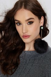 Nasty Gal Fur Better Or Worse Earrings