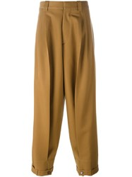 Marni Oversized Trousers Brown