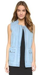 Jack By Bb Dakota Pierce Vest Medium Wash Chambray