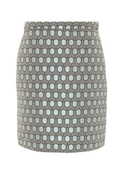 Hallhuber Honeycomb Jacquard A Line Skirt Multi Coloured