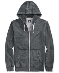 Quiksilver Zipper Front Drawstring Hoodie Anthracite