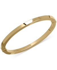 Macy's Square Tube Hinged Bangle Bracelet In 14K Gold