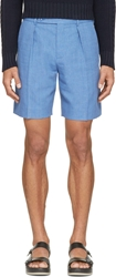 Carven Blue Chambray Shorts