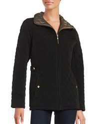 Gallery Plus Short Quilted Jacket Black
