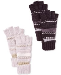 Inc International Concepts Mix Stitch Fingerless Gloves Only At Macy's Ivory