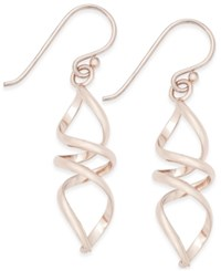 Giani Bernini 18K Rose Gold Plated Spiral Drop Earrings Only At Macy's