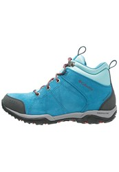 Columbia Fire Venture Waterproof Walking Boots Oxide Blue Spicy