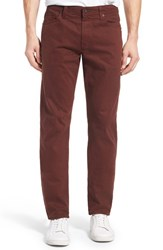 Ag Jeans Men's Big And Tall 'Graduate Sud' Slim Straight Leg Pants Dark Plum