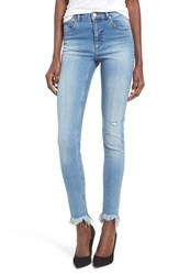 Cheap Monday Women's Second Frayed Hem Skinny Jeans