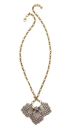 Lulu Frost Cactus Flower Pendant Necklace Gold Clear