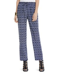 Vince Camuto Tribal Print Slim Leg Pants Evening Navy