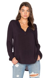 Velvet By Graham And Spencer Rosie Blouse Navy