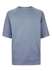Topman Ltd Blue Short Sleeve Raglan Sweatshirt
