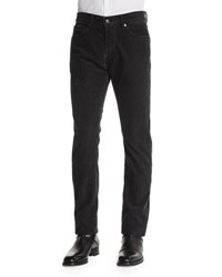 Tom Ford Regular Fit Washed Pinwale Corduroy Pants Charcoal