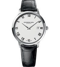 Raymond Weil 5588 Stc 00300 Toccata Stainless Steel And Leather Watch