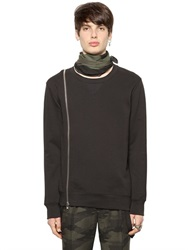 Blk Dnm Asymmetrical Cotton Sweatshirt