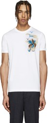 Dsquared White Palm Tree T Shirt