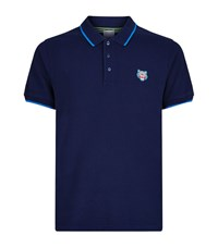 Kenzo Tipped Collar Polo Shirt Male Navy