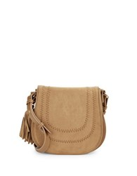 Kensie Faux Suede Crossbody Bag Iced Cocoa