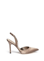 Sam Edelman 'Dora' Satin Slingback Pumps Brown