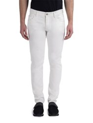 Dolce And Gabbana Straight Leg Gun Embellished Jeans Natural