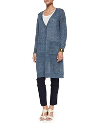 Eileen Fisher Rustic Linen Long Cardigan