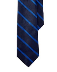 Polo Ralph Lauren Narrow Striped Repp Tie Navy
