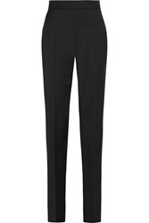 Oscar De La Renta Wool Blend Straight Leg Pants Black