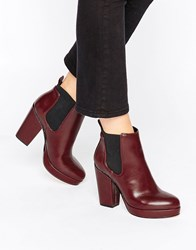 Asos Earth Chelsea Ankle Boots Oxblood Brown