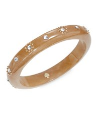 Kate Spade Out Of Her Shell Crystal Accented Bangle Brown