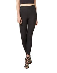 Miss Selfridge Textured Leggings Black