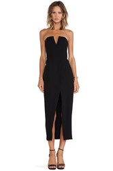 Shona Joy The Minimalist Bustier Cross Over Maxi Dress Black