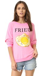 Wildfox Couture Fried Pullover Neon Sign Pink
