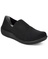 Clarks Collection Women's Cloud Steppers Sillian Firn Sneakers Women's Shoes Black Black